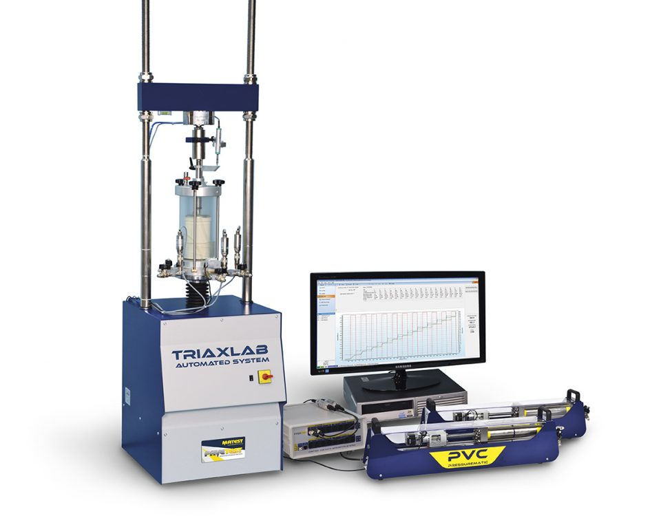 universal triaxial cell testing machine